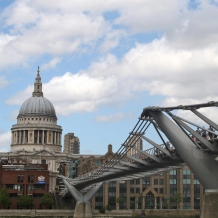 St Paul´s Cathedral and Millennium Bridge