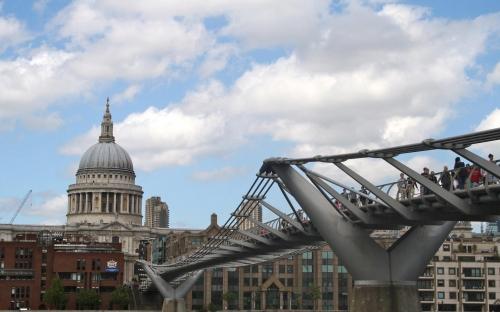 St Paul´s Cathedral and Millennium Bridge