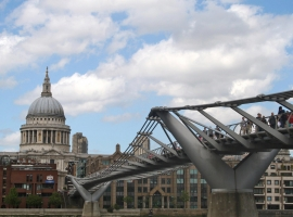 St Paul´s Cathedral and Millenium Bridge
